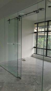Frameless Tempered Sliding Glass Door