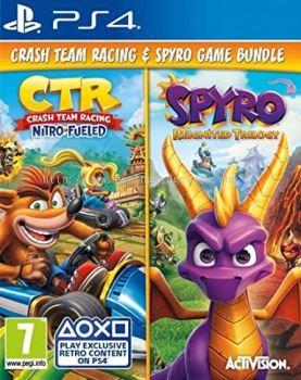 PS4 Crash Team Racing & Spyro Reignited Trilogy Game Bundle