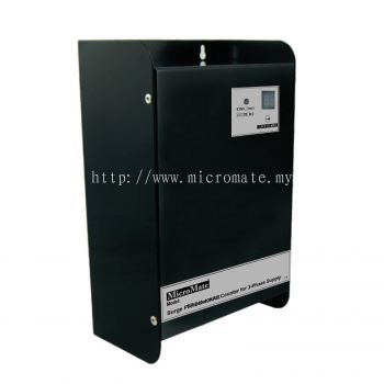 Surge Protector Box for 1-phase Power Lines with resetable lightning strike counter