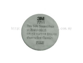 3M 7711 Pre-Filter For 7700 Series Respirator.