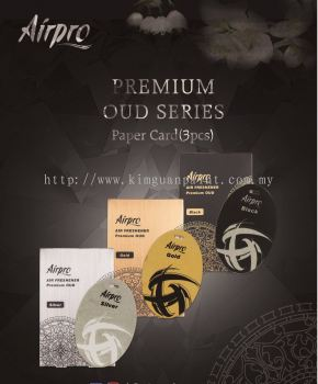 Airpro Premium Oud Paper Card Car Perfume Air Freshener