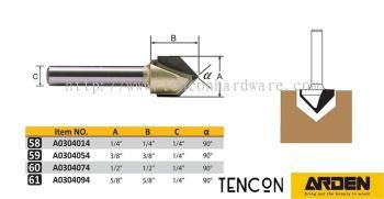 Arden ̨���ŵ� - F) Arden 90�� V-Grooving Bit 90�� V �͵�