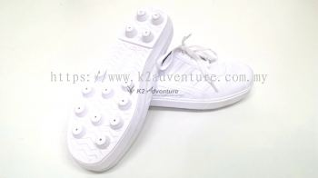 KAMPUNG ADIDAS RUBBER SHOES WHITE (LACE AND STUDDED)