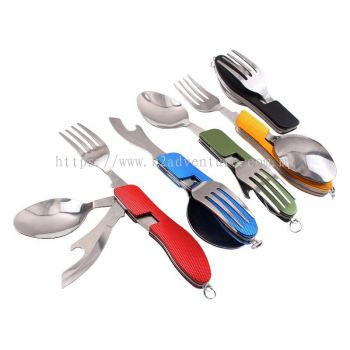 CAMPING SPOON/FORK/KNIFE BOTTLE OPENER