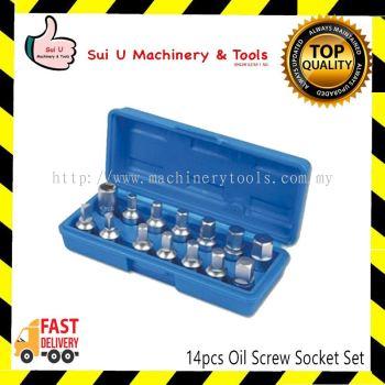 14pcs Oil Screw Socket Set