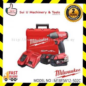 "MILWAUKEE M18FIW12-502C Fuel 1/2"" Compact Impact Wrench 5.0Ah"