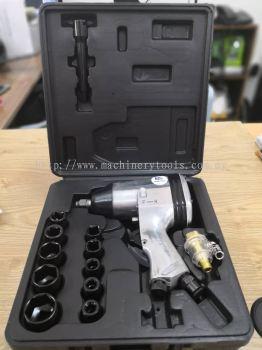 """17pcs 1/2"""" Air Impact Wrench Kit"""