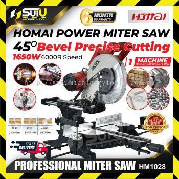 """HOMAI HM1028 10"""" Dual Slide/Belt Compound Mitre Saw"""