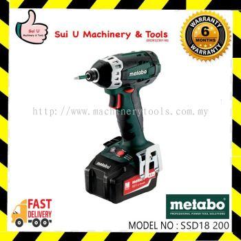 """METABO SSD18 LTX 200 18V Impact Driver 150N.m (Hex 1/4"""") 602196500"""