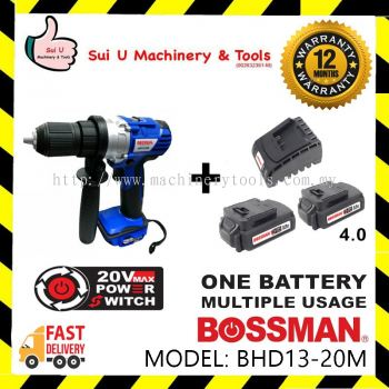 Bossman BHD13-20M 20V Cordless Hammer + 2pc Battery 4.0