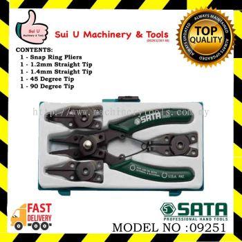 Sata 09251 5 Pc. Combination Snap Ring Pliers Set