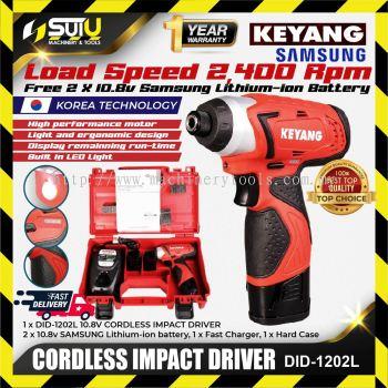 Keyang DID-1202L 10.8V Cordless Impact Driver with 2pcs 10.8ah Battery, Charger, Plastic Box