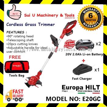 Europa Hilt E20GC Cordless Grass Trimmer With Starter Kit 2.0 (2x 2.0Ah Battery + 1 x Charger + 1 x Tool Bag )