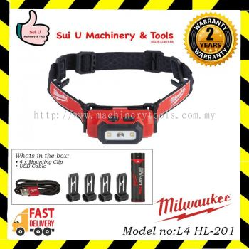 MILWAUKEE L4 HL-201 USB Rechargeable Headlamp