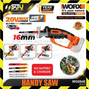 WORX WG894E 20V Max Li-Ion Cordless Handy Saw (solo)