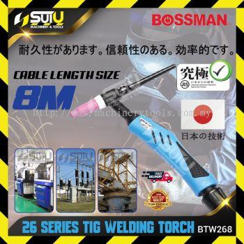 BOSSMAN BTW268 TIG Welding Torch 26 Series w/ 8m Cable