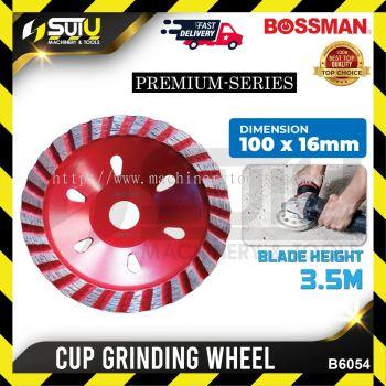 BOSSMAN B6054 Cup Grinding Wheel 100 x 16mm Premium Series