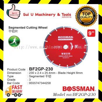 BOSSMAN BF2GP-230 Segmented Cutting Wheel 9inches 230x 2.2 x 25.4mm Grade 3