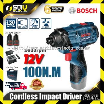 Bosch GDR 120-LI 12V 100N.M Professional Cordless Impact Driver | 2pcs Battries ,1pcs Charger, Caring Case