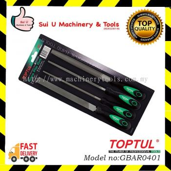 TOPTUL GBAR0401 / GBAR 0401 4pcs File Set