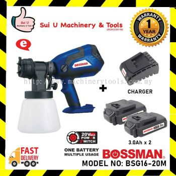 BOSSMAN BSG16-20M Cordless Spray Gun 210w 1000ml with 2x 3.0ah Battery & 1x Charger