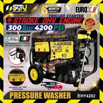 Eurox EHY4202 300Bar Gasoline High Pressure Washer Cleaner 4 Type Pressure-Washer Nozzle 4200 PSI Ma