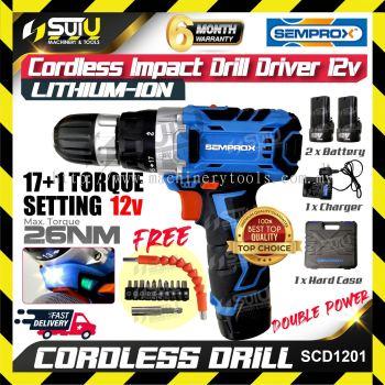Semprox SCD1201 Cordless Impact Drill Driver 12v 26Nm