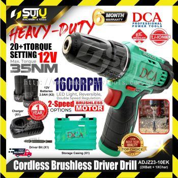 DCA ADJZ23-10 Brushless Cordless Driver Drill | 35N.M | 2pcs Battery Set