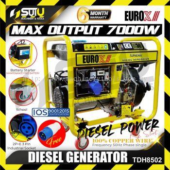 EUROX TDH8502 7000w 4-stroke Diesel Generator 3000rpm ( Recoil & Battery Starter )