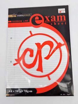 CP EXAM SHEET A4 50'S 70GSM
