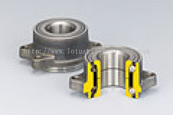 Double-Row Angular Contact Ball Bearings with Outer Mounting Flange (HUBII for Inner Ring Rotation Type)