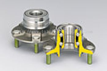 Double-Row Angular Contact Ball Bearings with Outer Mounting Flange (HUBII for Outer Ring Rotation Type)