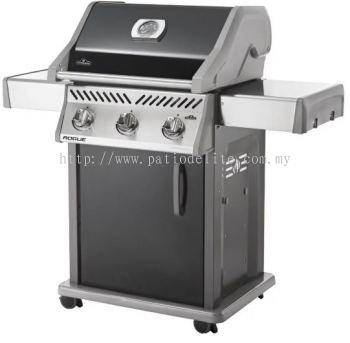 Napoleon Rogue® 365SB (Black) with Range Side Burner Gas BBQ Grill