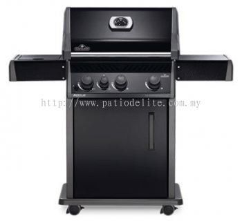 Napoleon Rogue® R425SBP (Full Black) with Range Side Burner Gas BBQ Grill