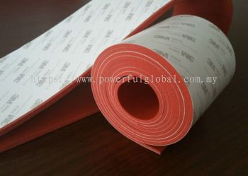 Silicone Foam Rubber Sheet with One Side Adhesive Tape