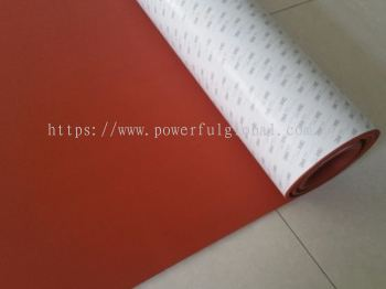 Silicone Rubber Sheets with Adhesive 3M