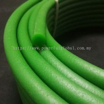 PU round belt polycord Green