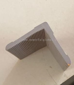 Rubber L Angle Bar Gray