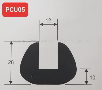 Capping U Rubber Extrusions PCU05