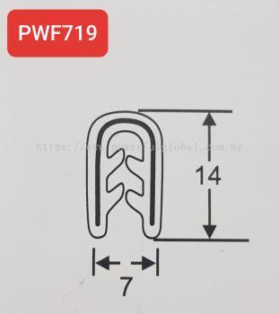 EPDM Pinchwelds U Door Seal PWF719
