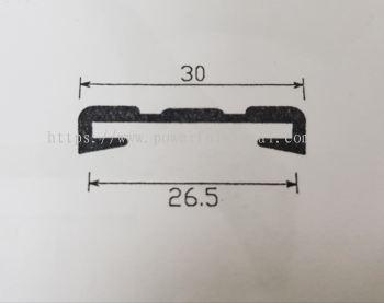 Side Rubber Seal Black PPE539