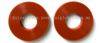 Industry-Silicone-Rubber-Washer-Red