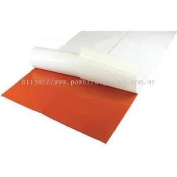 Red Silicone Sheet With Adhesive Tape
