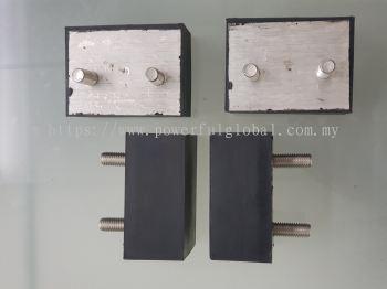 Rubber Bonded Aluminium Part