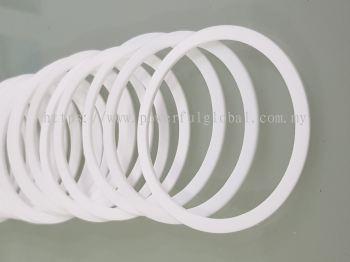 PTFE Gasket Flat Ring White