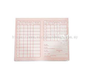 1-15 DAYS WORKING CARD - 00322B
