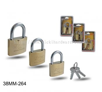 38MM 264 BRASS PLATED PADLOCK