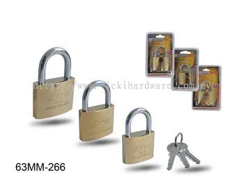 63MM 266 BRASS PLATED PAD LOCK - 0399U