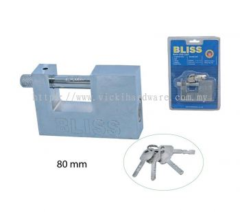 "80MM ""BLISS"" SQUARE PAD LOCK - 00540X"