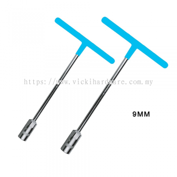 BT  9MM  T-TYPE WRENCH (RUBBER HAND) - BT2166